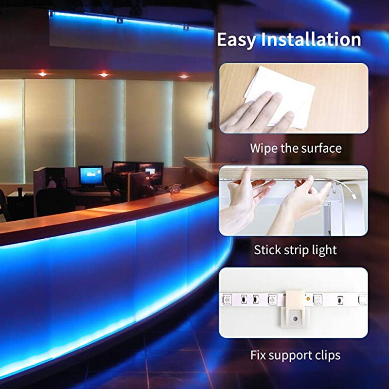 32.8Ft (10M) Smart WIFI RGB LED Light SMD 2835 RGB Waterproof Flexible 12V Power Supply Color Changing LED Strip Tape Full Set (9)