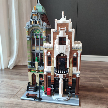 The brickstive MOC Post Office Modern Library streetview Modular Model Building Blocks Bricks Kids Toys For children gifts