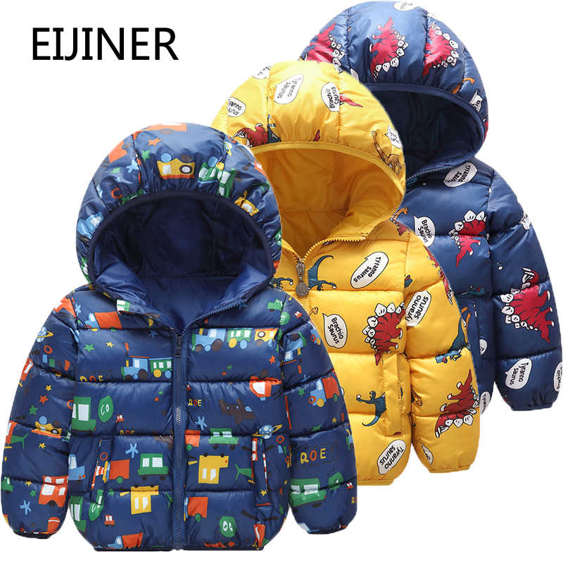 Children's Winter Jackets 2019 New Graffiti Hooded Boys Coat Cotton Kids Parkas Coat Baby Jacket for Girls Parka Outerwear