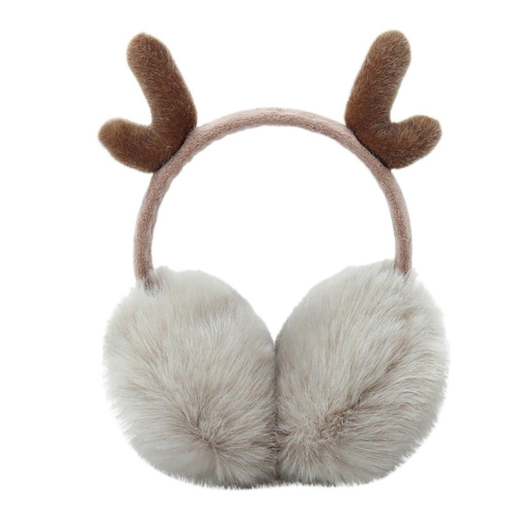 SAGACE Brand New 2019 Fashion Women Winte  Headband Newest Cute Plush Antlers Ears Design Winter Warm Adjustable Earmuffs