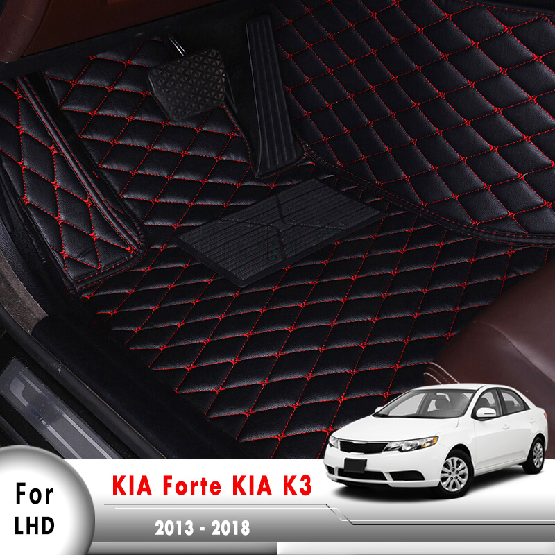 Car Interior Foot Carpet Custom Auto Protect Car Floor Mats For KIA Forte YD K3 2013 2014 2015 2016 2017 2018|Floor Mats| |  - title=