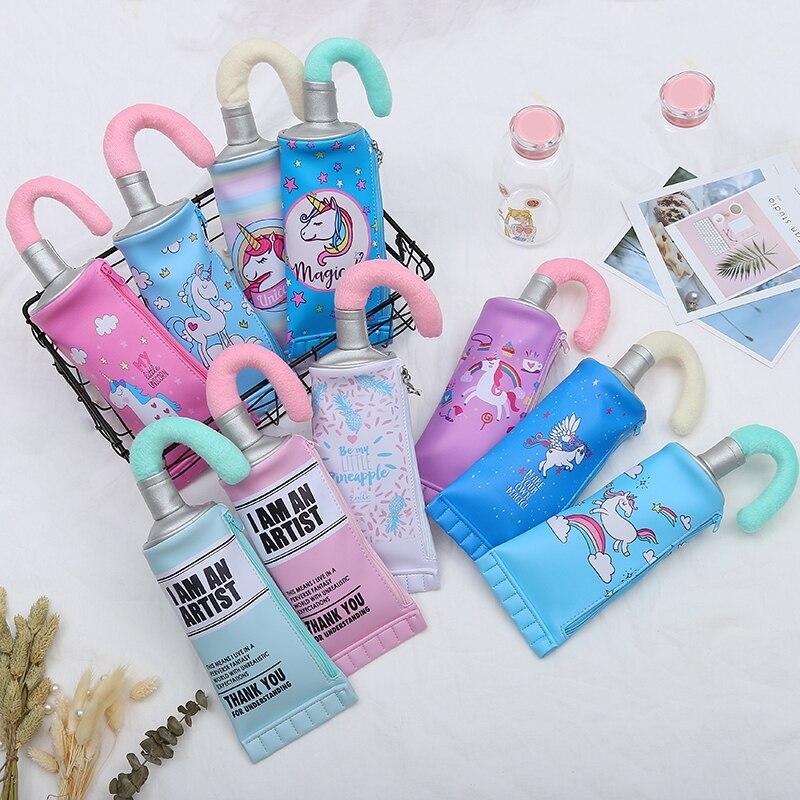 Зубная паста Форма Карандаш косметическая сумка женская косметичка сумка мультфильм печать единорог подарок канцелярские принадлежности
