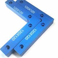 90 graus de Precisão de Posicionamento Posicionamento L Quadrados Bloco 120x120mm Right Angle Régua Medir Ferramentas de Aperto