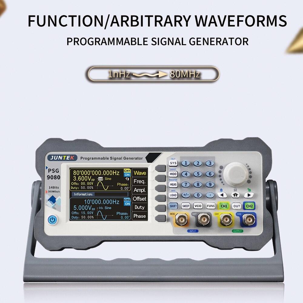 Двухканальный программируемый генератор произвольных волн JUNTEK PSG9080, источник сигнала, частотная модуляция, амплитудно-модулятор