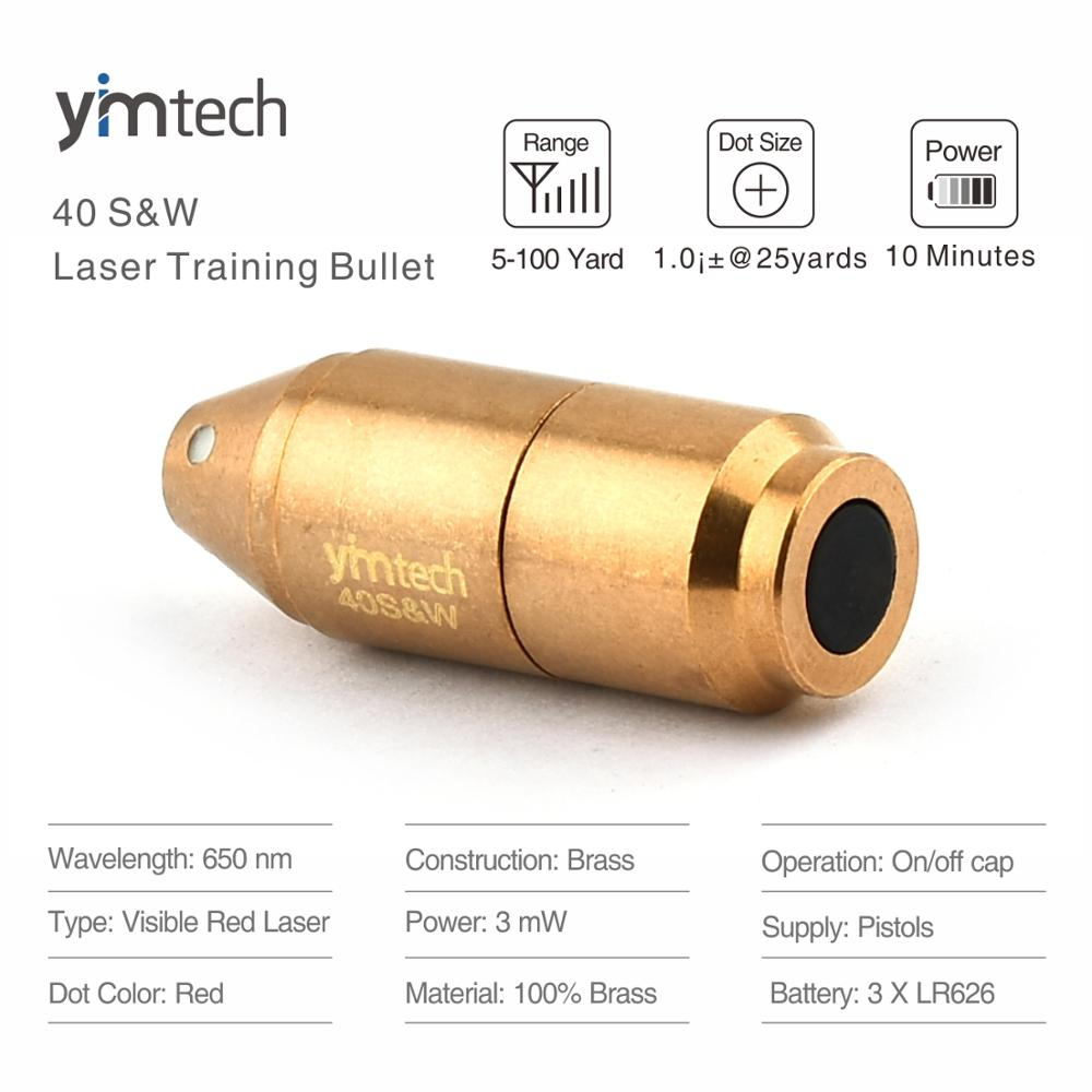 40S & W лазерная тренировочная пуля, лазерная пуля, лазерный картридж для обучения сухому огню и моделирования стрельбы