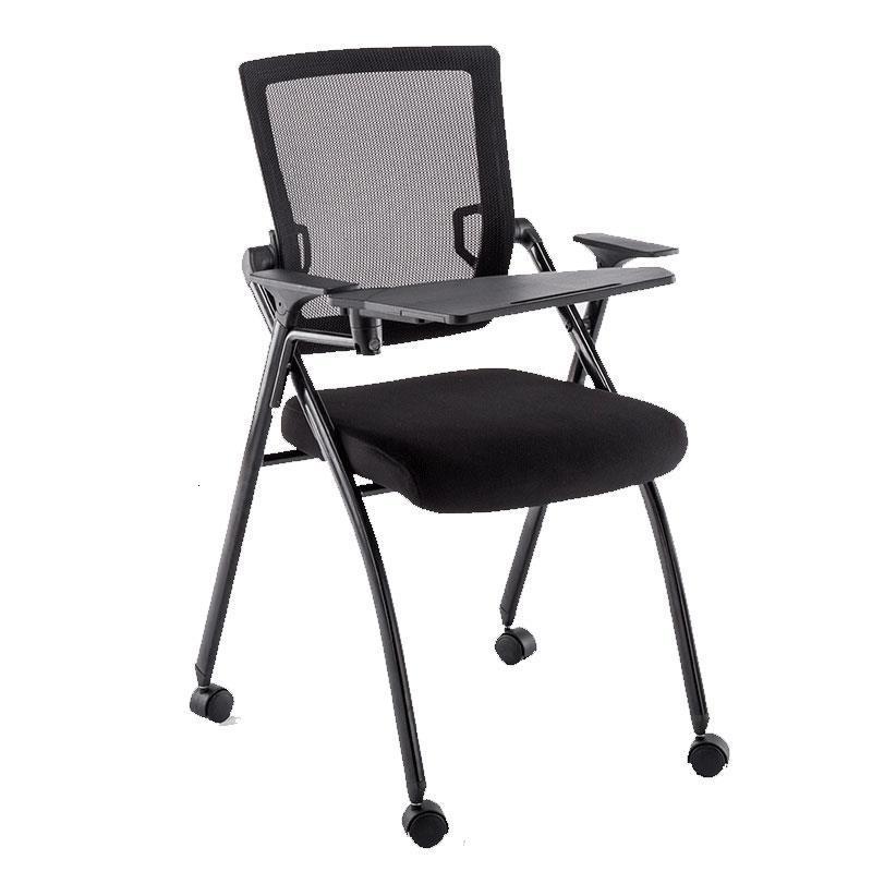 Foldable Living Room Bedroom Conferencia Kursi Staf Airport Cadeira Com Escrita De Silla Oficina Office Folding Chair With Board