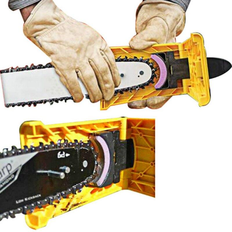 Amolador de corrente, ferramenta para trabalhar em madeira com pedra de amolar