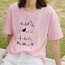 Женская Винтажная Футболка kpop свободная футболка с коротким