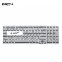 Nuevo para SONY VAIO E15 SVE 15 SVE15 149032851RU AEHK57002303A MP 11K73SU 920 teclado RU ruso blanco con makro