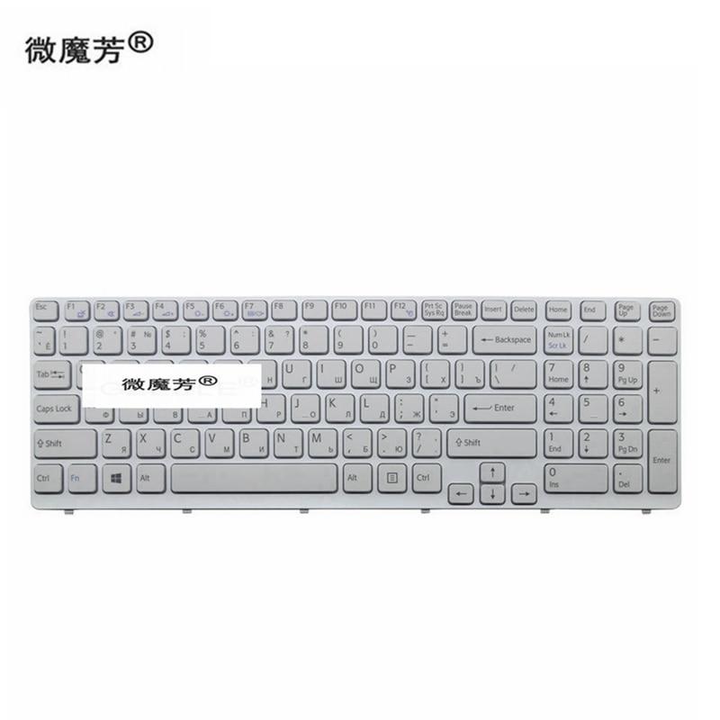 Nuevo para для SONY VAIO E15 SVE 15 SVE15 149032851RU AEHK57002303A MP 11K73SU 920 teclado RU ruso blanco con marcoКлавиатуры для замены   -