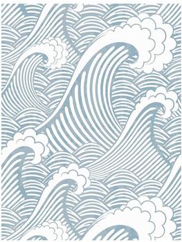Luckyj Peel And Stick tapeta niebieskie białe fale Spray Vinyl samoprzylepna prewklejona tapeta wodoodporna fototapeta Home Decor tanie i dobre opinie LUCKYYJ NONE CN (pochodzenie) USD rolka TŁOCZONA Nowoczesne Tapety winylowe Tapety winylowe na papierze SALON do pokoju z pościelą