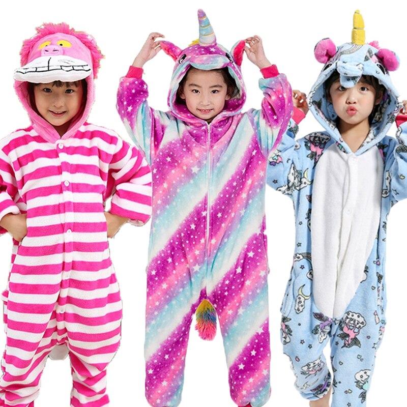 Children Pajamas Set Animal Pikachu Stitch Panda Unicorn Pyjamas Kids Pajamas For Boys Girls Sleepwear Cosplay Costume Onesies