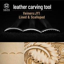 304-Stainless Streel-Stamps Work-Stamping-Tool Veiners Make-Carving-Pattern SOZO Sheridan