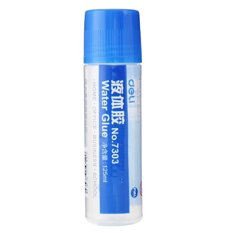 Deli Liquid Glue Practical Colorless Viscous Strong 7303 Office Glue Large Size 125 Ml Wholesale 04040034