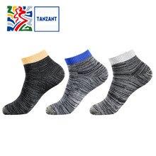 Tanzant Copper Athletic Running Antibacterial Mens ankle Socks  Moisture Wicking Anti Odor Deodorant Sports Socks 5 pairs цены