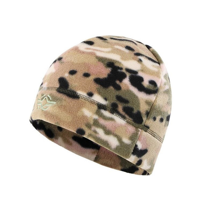 56-60cm Outdoor Training Camouflage Thermal Windproof Fleece Hat Men Winter Cycling Camping Hunting Thick Warm Army Tactical Cap Others Men's Fashion