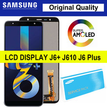 100% Original 6.0 ''LCD J6 Plus für Samsung Galaxy J6 + J610 J610F J610FN Display Touchscreen Digitizer Montage reparatur Teile