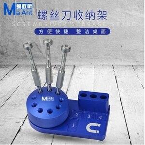 Image 2 - Caja de almacenamiento de herramientas con destornillador magnético multifunción, componentes, clasificación de caja de piezas, soporte de destornillador, estante de almacenamiento de escritorio