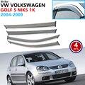 Für VW Volkswagen Golf 5 MK5 1K 2004 ~ 2009 Fenster Visor Vent Markisen Regen Schutz Deflektor Heime Auto zubehör 2005 2006 2007-in Autoaufkleber aus Kraftfahrzeuge und Motorräder bei