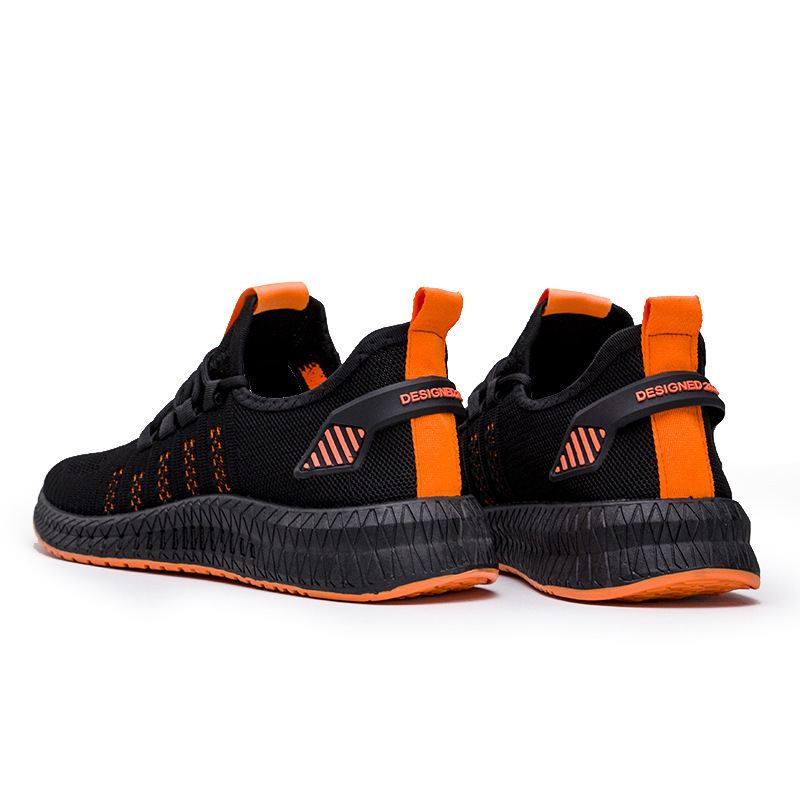 Designer new men shoes mesh breathable comfortable lightweight casual running lightweight flying woven technical shoes