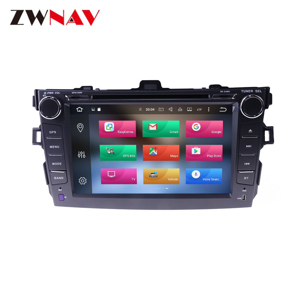 Android 9.0 4+64G DSP Radio Car DVD Player GPS navigation For Toyota Corolla 2007-2013 Head Unit Multimedia Tape Recorder image