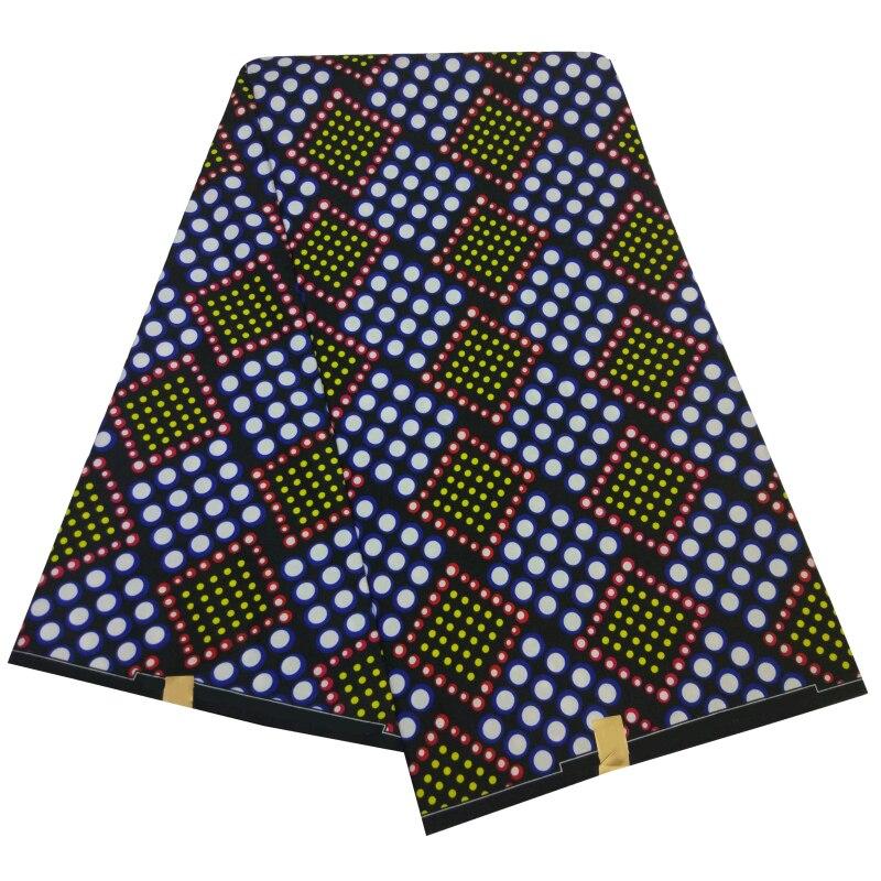 6 Yards Veritable Wax Tissu Africain Printed Polyester Meterial Fabric Guaranteed Real Dutch Wax African Ankara Fabrics