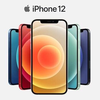 Перейти на Алиэкспресс и купить Подлинный оригинальный Apple iPhone 12/12 мини 5G 5,4/6,1 дюймСупер Retina XDR дисплей A14 бионические приманки для рыбной ловли IOS 14 смартфон супер тонкий