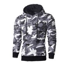 Hip Hop Top Men's Hoodies Pullovers Sportswear Long Sleeve Camouflage Hooded Shirt Mens Brand Clothing Male Casual Sweatshirt