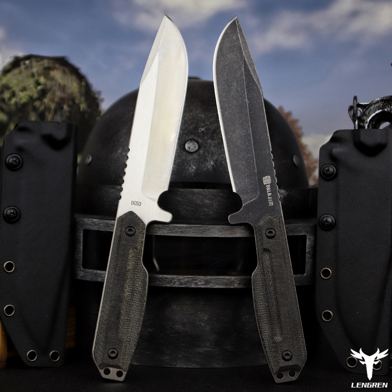 Jungle Knife Camping Knife Survival Rescue DC53steel Linen Hunting X Camping Tool Battle Outdoor MAN Knife Knife Straight Handle