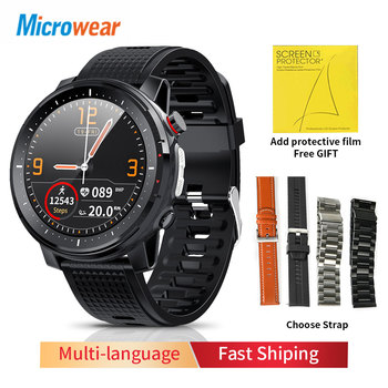2020 New Microwear L15 Smart Watch Men IP68 Waterproof smartWatch ECG PPG Blood Pressure Heart Rate sport fitness Smartwatch 1