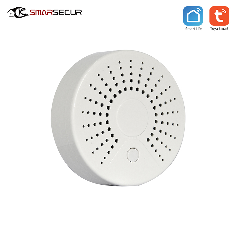 Wireless Wifi High sensitive Smoke fire alarm detector sensor for smart life tuya app control compatible alexa google Home