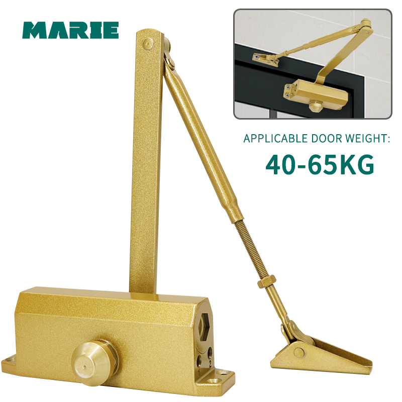 MARIE 1303 Glden Fire-proof Automatic Hydraulic Buffer for 40-65kg Door Speed Adjustable Mute Non-positioning Door Closer
