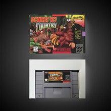 Donkey country kong bateria de cartão de jogo rpg salvar nos versão caixa de varejo