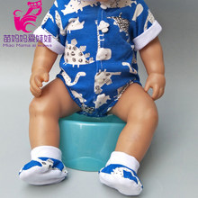 for 40cm baby dolls clothes Dinosaur rompers for 17 babies doll clothes pants doll toys wear(China)