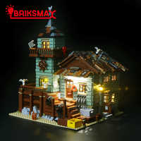 BriksMax Led Lighting Kit For Ideas Series Old Fishing Store Building Block Model Light Set Compatible With 21310