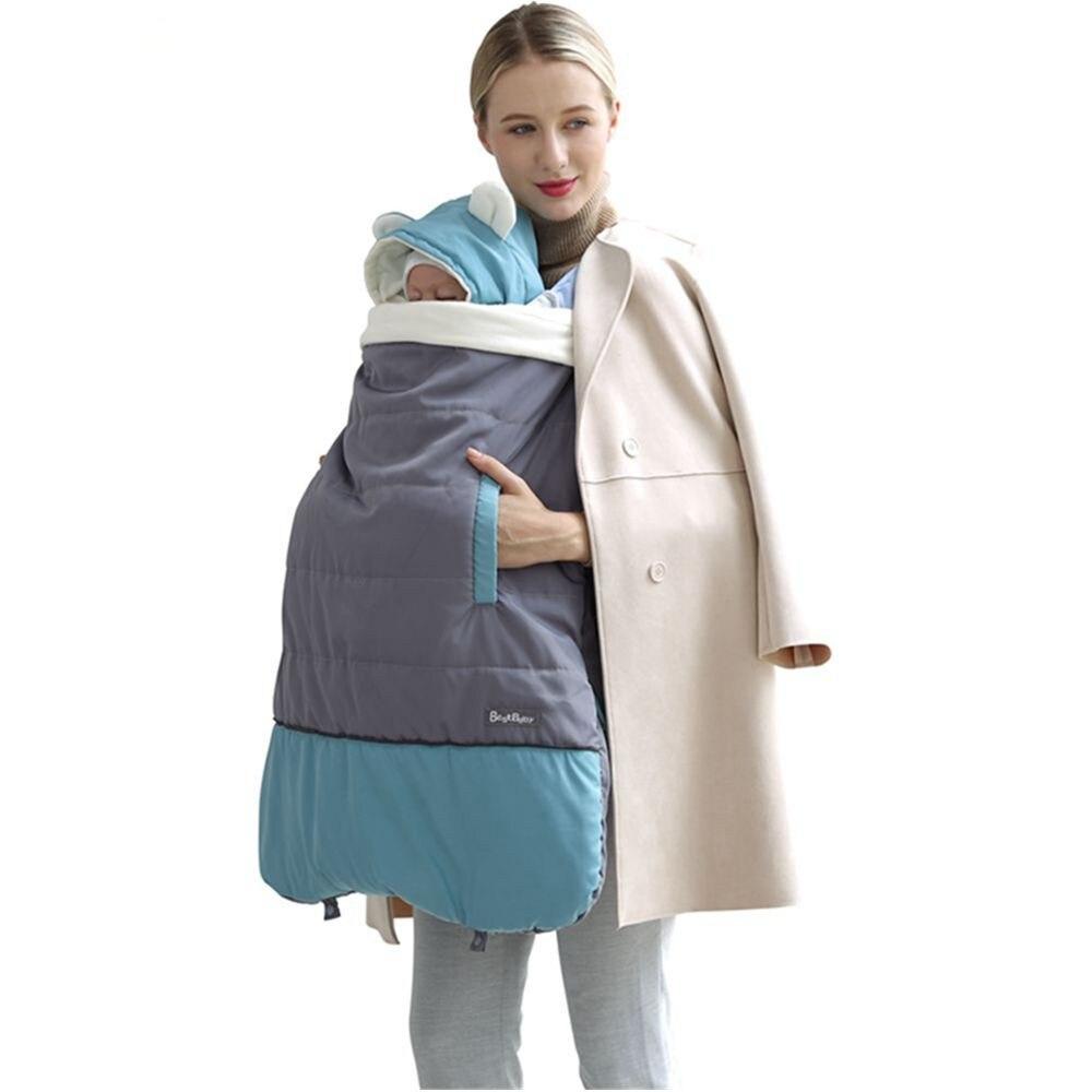 New Baby Carrier Autumn Winter Outdoor Coat Baby Cloak Hugs Newborn Sling Cloak Windproof Stroller Cover Warm Rainproof Use