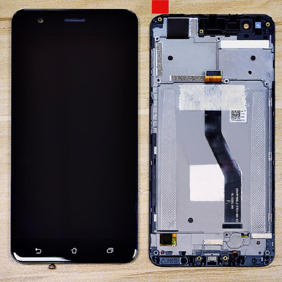 Digitizer Zenfone ZE553KL Replacement Lcd-Screen-Display ASUS with Frame for And Z01HDA title=