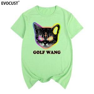 Мужская хлопковая футболка с котом Golfed Wang Tyler The Creator OFWGKTA Skate, лето 2019