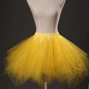Image 3 - Short Girl Layered Tulle Ballet Dance Elastic Mini Tutu petticoat Ruffled Trim Fluffy Sweet Color Party  Princess Pettiskirt