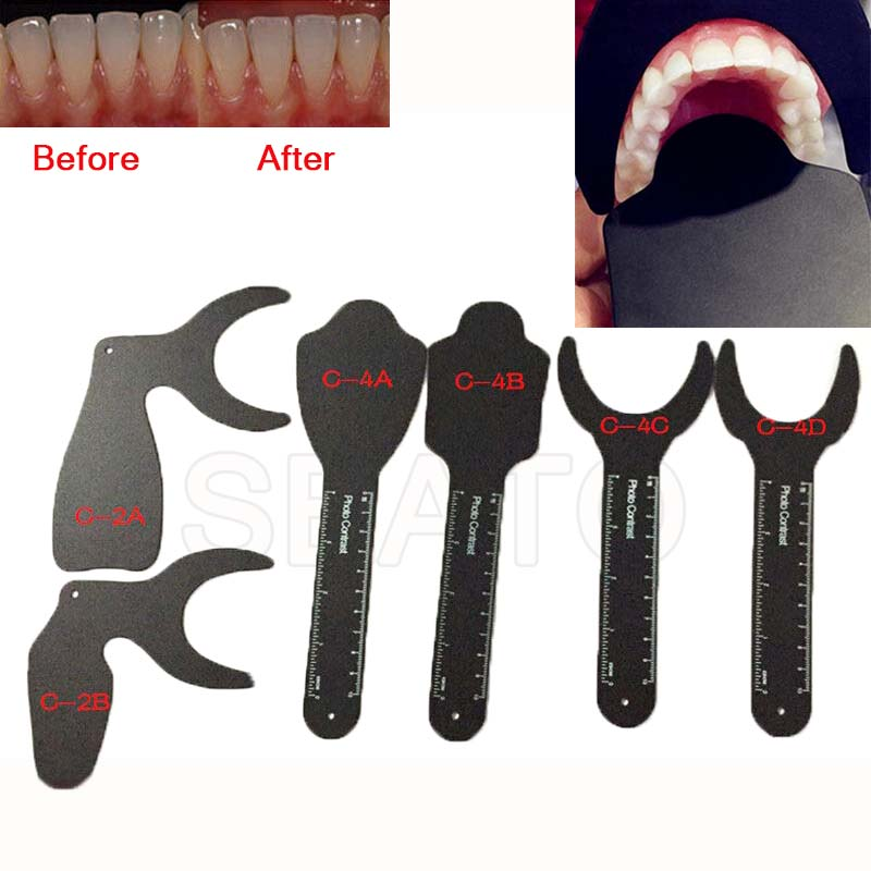 1 Pcs Dental Orthodontic Photographic Black Background Photo Image Contrast Board Oral Cheek Black Plate Contrasters Autoclavabl