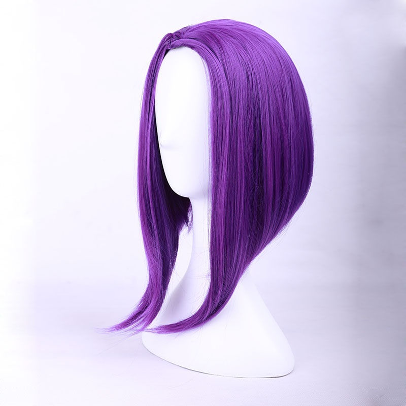 Halloween New Teen Titans women Raven cosplay wig role play styled purple hair image