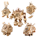 Robotime ROKR стимпанк музыкальная шкатулка 3D деревянная головоломка сборная Модель Строительный набор игрушки для детей подарок на день рожден...