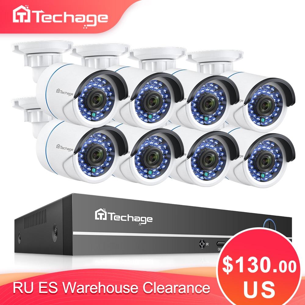 H.265 8CH 1080P 2MP POE NVR Kit CCTV Security System Audio IP Camera IR Outdoor Waterproof CCTV Video Surveillance Set 2TB HDD