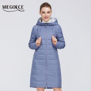 MIEGOFCE 2020 новый дизайн весенняя куртка Женское пальто ветрозащитная теплая Женская парка Европейская и американская женская модель Женское ...