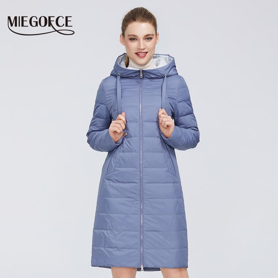 MIEGOFCE 2020 New Design Spring Autumn Jacket Women's Coat Windproof Warm Female Coat European And American Female Model Coat
