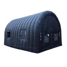 6mLx4mWx3. 5mH полностью черные надувные палатки с дверным прозрачным окном для мероприятий надувной тент для вечеринок автомобильный гараж
