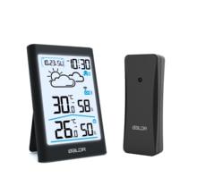 Baldr Digital Weather Station Hygrometer Thermometer Forecast Indoor Outdoor Sensor Thermo hygrometer Alarm Clock