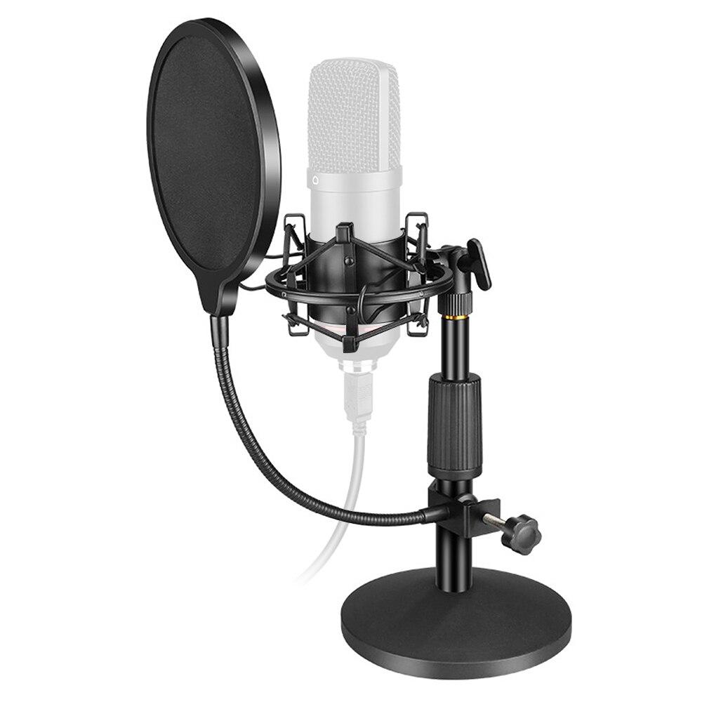 Bm 800 конденсаторный микрофон настольная подставка ударное крепление Универсальный USB компьютер микрофон держатель Поп фильтр тяжелое мета...