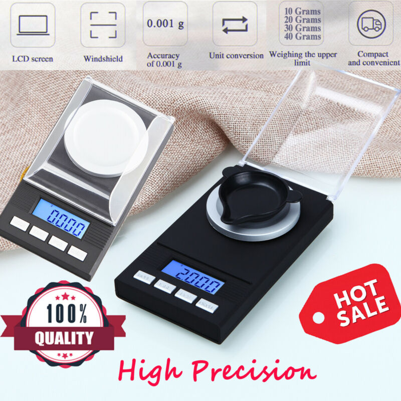 Portable Digital 1mg Scale Weigh 0.001g High Precision Weighing Electronic Scale
