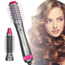 Multifunction Hair Dryer 2 in 1 One Step Hot Air Brush Hair Straightener Comb Curling Brush Hair Styling Tools Hair Dryer Brush